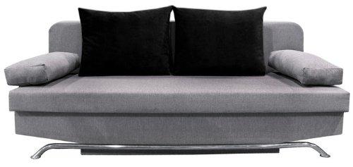 schlafcouch bettsofa schlafsofa bono mit bettkasten grau schwarz neu. Black Bedroom Furniture Sets. Home Design Ideas
