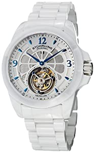 Stuhrling Original Men's 475.33EP3 Tourbillon Specter Limited Edition Mechanical White Ceramic Watch