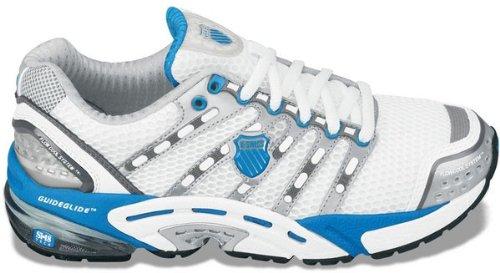 K-Swiss Women's Konesic Running Shoes (Wht/ Blu/ Chrcl)