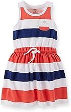 Carter39s Little Girls39 Jersey Striped Tank Dress July 4th 4T Red