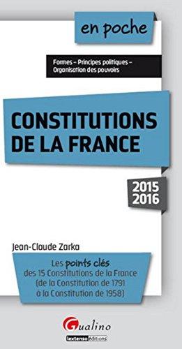 Les constitutions de la France 2015-2016