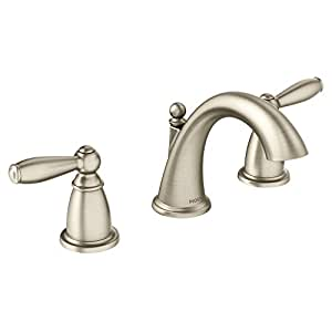 Moen T6620ORB Brantford Two Handle Low Arc Bathroom Faucet Without Valve Oil