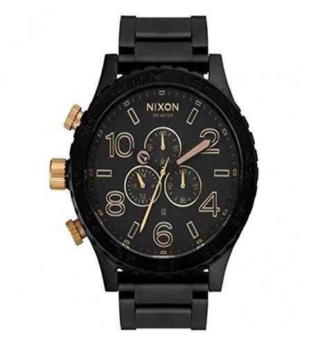 ニクソン NIXON 腕時計 51-30 CHRONO MATTE BLACK/GOLD メンズ A083-1041