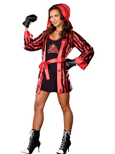 Knock Out Boxer Costume Sexy Robe and Workout Clothes Womens Theatrical Costume