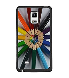 PrintDhaba Colour Pencils D-2239 Back Case Cover for SAMSUNG GALAXY NOTE EDGE (Multi-Coloured)