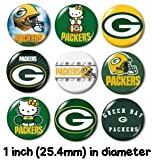GREEN BAY PACKERS BUTTONS PINS BADGES nfl nfc wisconsin sports team