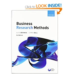 bryman bell business research methods New listing business research methods bryman and bell oxford 4th edition mba  see more like this business research methods by alan bryman and emma bell .
