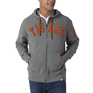 MLB Detroit Tigers Gametime Scrimmage Full Zip Fleece Hoodie by