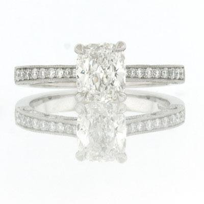 1.50ct Cushion Cut Diamond Engagement Anniversary