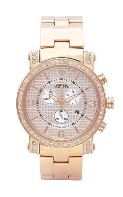 Aqua Master Men's Power One-Row Diamond Watch with Diamond-Cut Dial, 2.60 ctw