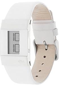 s.Oliver - SO-1286-LD - Montre Femme - Digitale - Bracelet Cuir Blanc