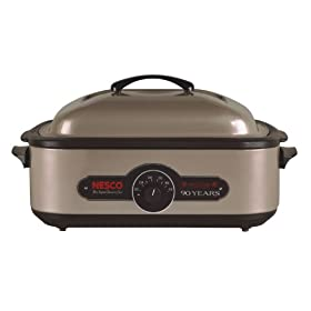 Nesco 4808-90 Limited Edition Anniversary Roaster, Porcelain Coated Cookwell, 18-Quart