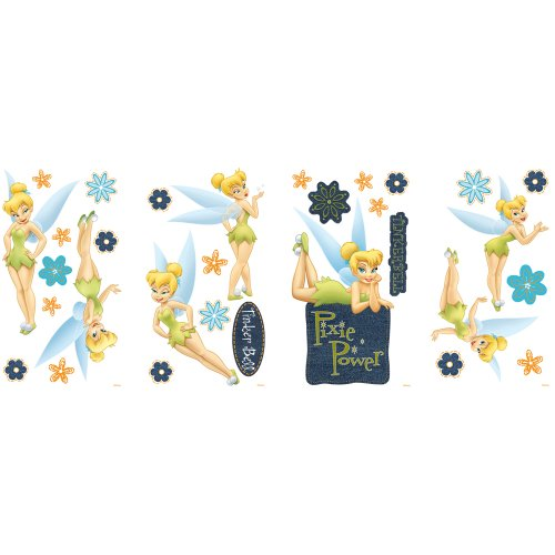 Blue Mountain Wallcoverings GAPP1762 Tinker Bell Self-Stick Room Appliqués, Denim