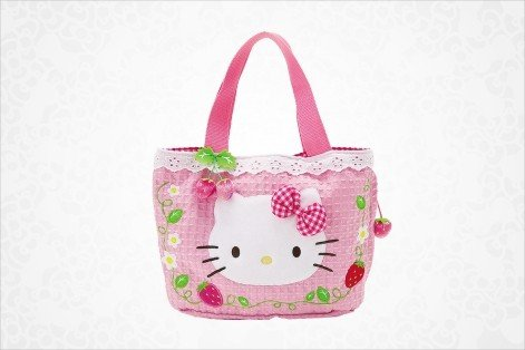 Hello Kitty Tote Bag: Strawberry Lace