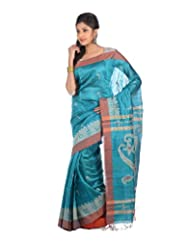 Aishee's Sea-Green And Maroon Colored Party Wear Silk Saree