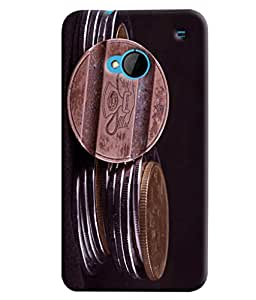 Blue Throat Old Coins Printed Designer Back Cover/ Case For HTC One M7