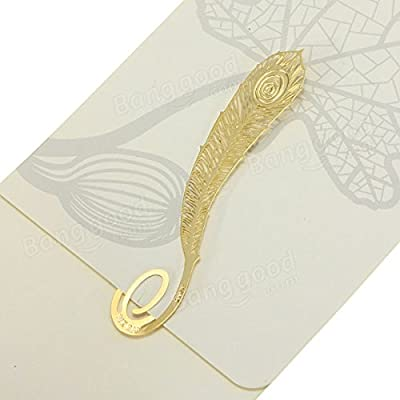 easyshop Metall plattiert Goldene Federn geformte Lesebookmarks von easyshop4u auf Gartenmöbel von Du und Dein Garten