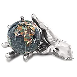Alexander Kalifano Ocean Embraced World in Your Hand Gemstone Globe, 4\
