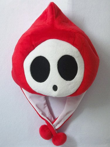 Mario Bro: Red Shy Guy Aviator Costume Hat