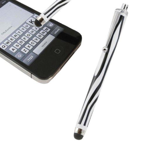 Italkonline White Black Zebra Print Executive Premium Advanced Touch Tip Stylus Pen With Rubber Tip For Lg G3 S Beat Duos