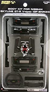 XMODS BODY KIT FOR BLACK NISSAN Skyline GT-R V-Spec (GF-BNR34)