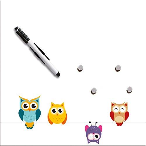 Eurographics MBDT6440 Memo Tafel, Funny Owls, 30 x 30 cm Picture