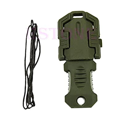 ZJchao Mini Multifunction EDC Knife Pocket Survival Tool MOLLE Webbing Self Defense (Army Green) by ZJchao