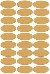 Oval Kraft Paper Labels for Essential Oil Bottle Labeling, 250 Labels