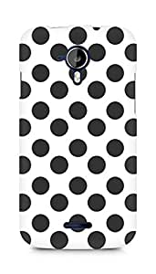 Amez designer printed 3d premium high quality back case cover for Micromax Canvas Magnus A117 (Black n White Pattern1)