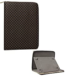 DMG Portfolio Bag Zipped Cover Stand For Notion Ink Adam II 10in Tablet (Brown)