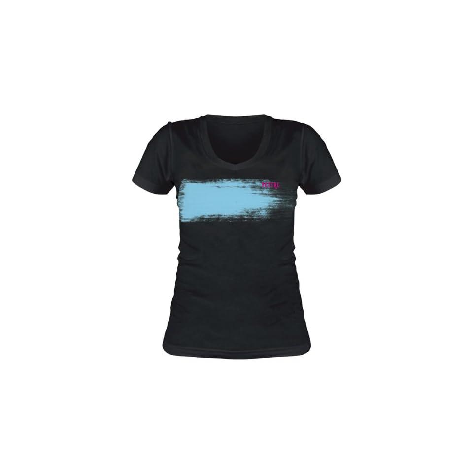 Vestal Brush Womens Short Sleeve Fashion Shirt   Black