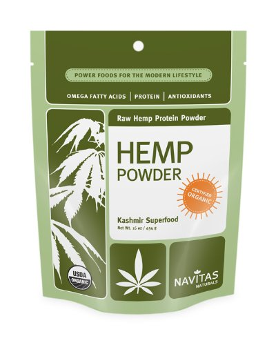 Navitas Naturals Hemp Protein Powder, 16-Ounce Pouches