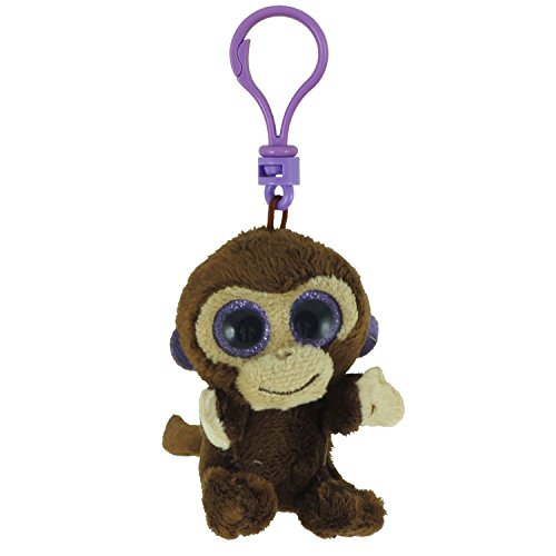 TY Beanie Boos - COCONUT the Monkey (Glitter Eyes) (Plastic Key Clip - 3 inch) - 1