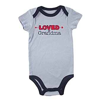 Luvable Friends Boys Relatives Bodysuit, Loved By Grandma, 0-3 Months