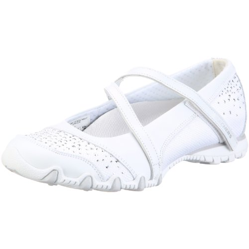 Skechers Women's Bikers Go-Glam Ballerina White UK 7