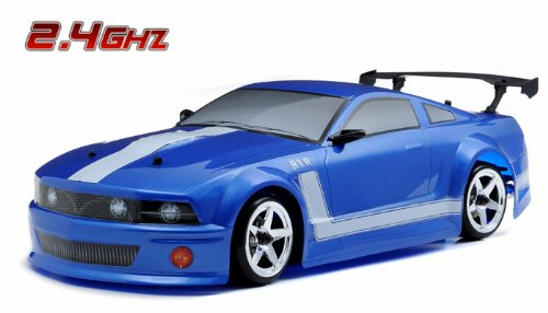 Exceed RC 2.4Ghz MadSpeed Drift King 1/10 Electric Ready to Run Drift Car (FMG-Blue)