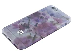 iPhone 6 Plus Flower Case by Rocketcases - Protective, Clear, Slim Floral Pattern Print Design - Cherry Blossom Model - iPhone 6 Plus and iPhone 6S Plus Compatible - Retail Box Packaging