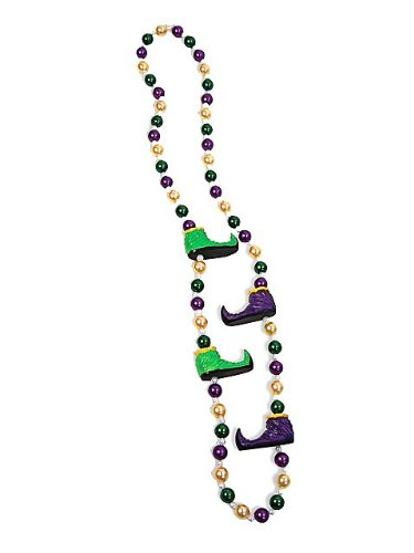 Mardi Gras Jester Shoes Beads