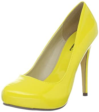 Michael Antonio Women's Loveme-Pat Pump,Yellow Patent,7 M US