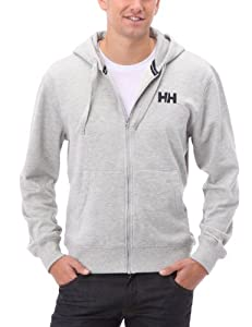 Helly Hansen Men's Graphic F/Z Hoodie (Grey Melang, Large)