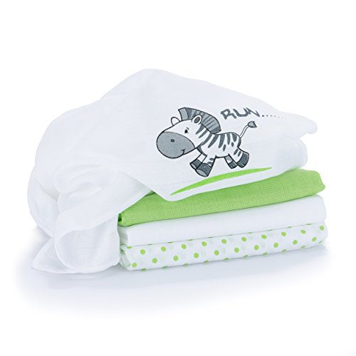 4-gasas-panos-panales-de-tela-80-x-80-cm-estampado-de-zebra-blanco-y-verde-doble-tejido-con-borde-re
