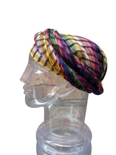 Inspirit Arts Sheer Earthtone Headwrap, Handwoven Lightweight Cotton, Gauze-Like Open Net Weave, See-Through Headwrapping Hair Scarf, Bandana, Hair Tie,Turban, Lock Sock, Chemo Cap, Head Cover front-384356