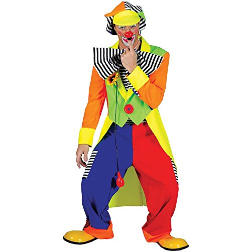 Men's Spanky Stripes Clown Costume