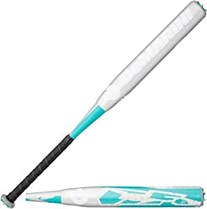 DeMarini CF6 Fastpitch Softball Bat (-11), Teal/Grey, 28-Inch/17-Ounce