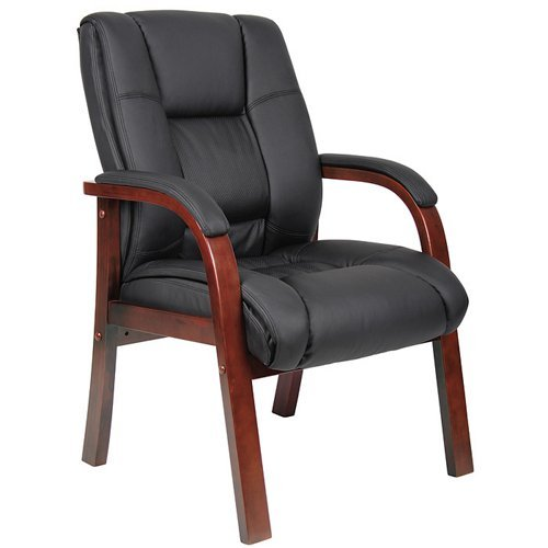 Boss B8999-C Mid Back Wood Finished Guest Chairs