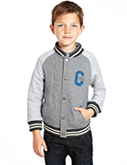 Raglan Sleeve Baseball Jacket