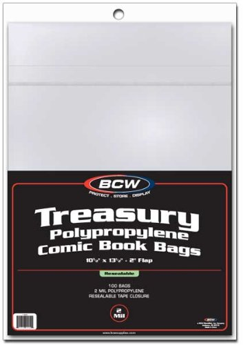 Pack-of-100-BCW-Resealable-Treasury-Comic-Book-Poly-Bags