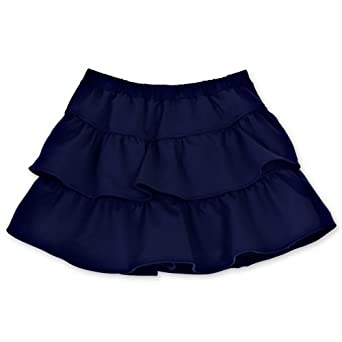 Buy Chez Ami by Patsy Aiken Designs Girls Ruffled Tennis Skort Navy by Patsy Aiken Designs