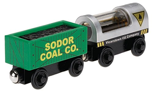 Fisher-Price Thomas the Train Wooden Railway Oil and Coal Cargo (Thomas Wooden Railway Cars compare prices)