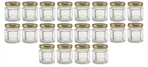 Cornucopia Brands Mini Hexagon Glass Jars, 1.5oz, Pack of 24 (Small Spice Bottles compare prices)